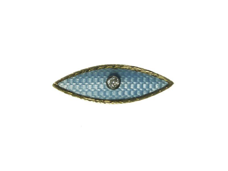 Enamel & diamond brooch by Fabergé