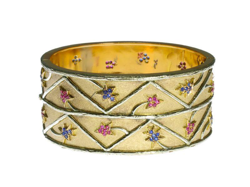 Ruby & sapphire bangle