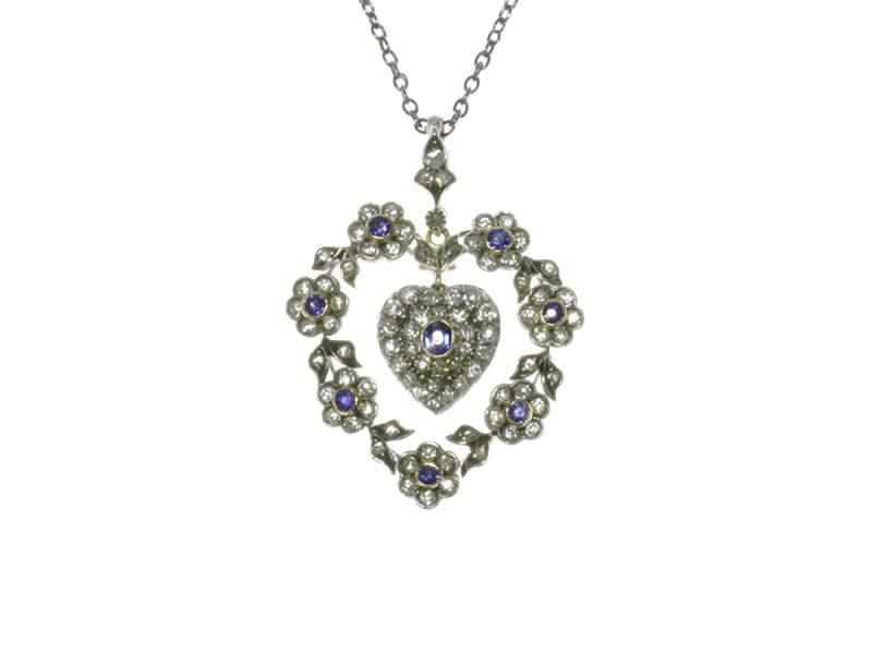 Victorian sapphire & diamond pendant
