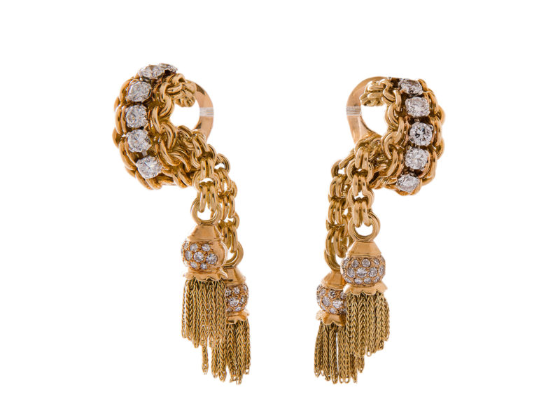Diamond earrings by Van Cleef & Arpels