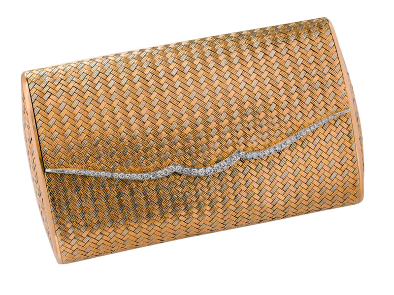 Diamond set clutch bag by Bulgari