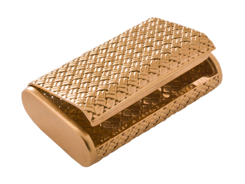Gold woven box by Van Cleef & Arpels