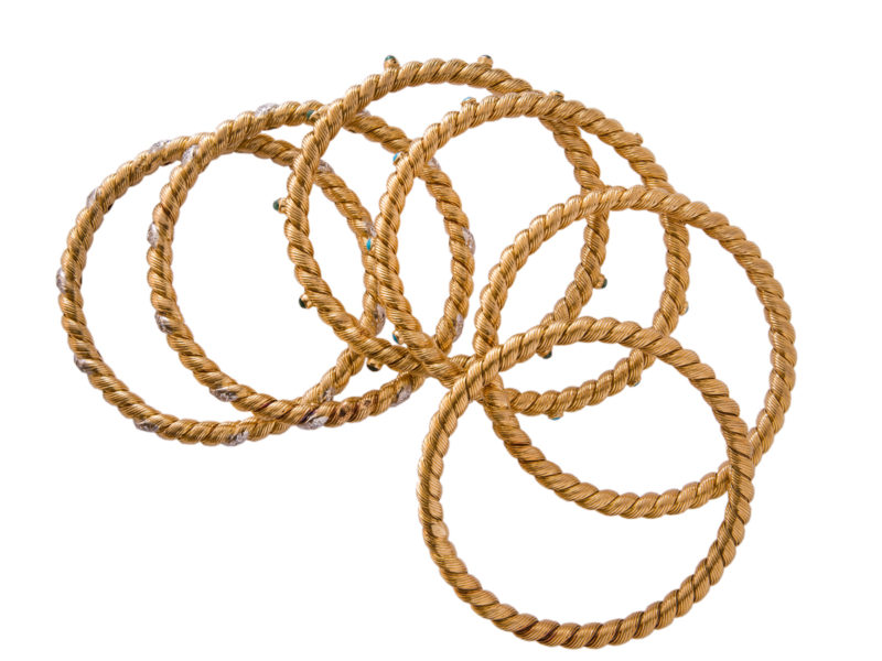 Set of six bangles by Van Cleef & Arpels