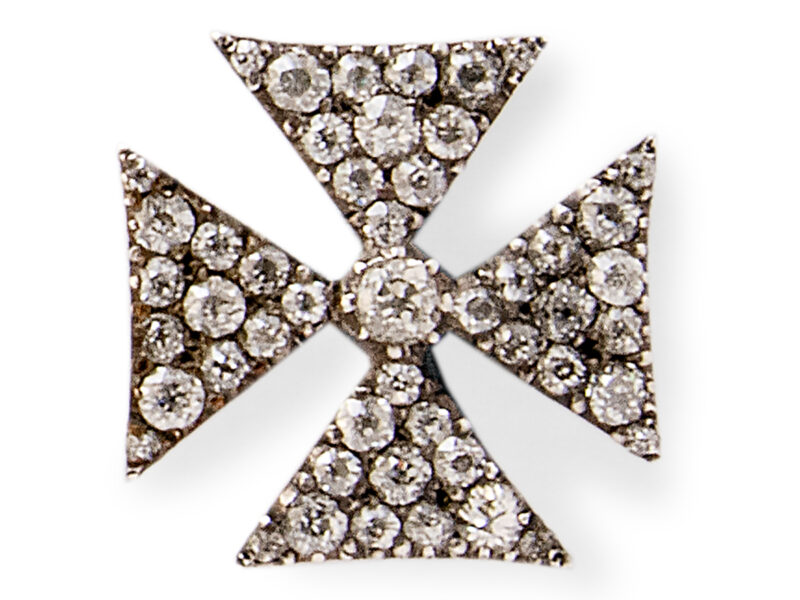Antique Diamond Set Maltese Cross
