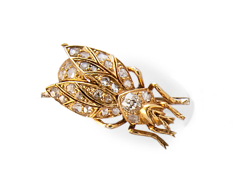 Diamond Bug Brooch