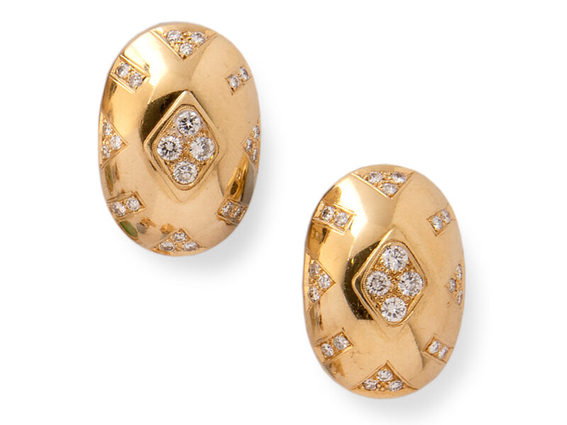 Gold & Diamond Earrings