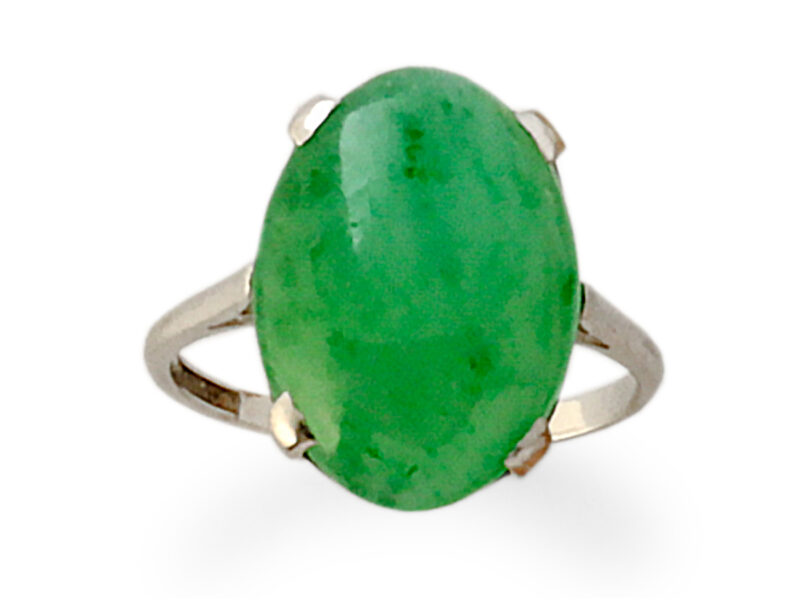 Jade Single Stone Ring