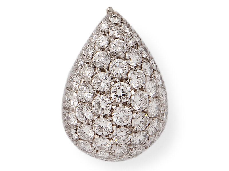 Pave Set Diamond Pendant