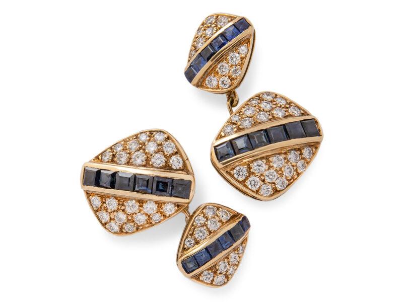 Sapphire & Diamond Cufflinks