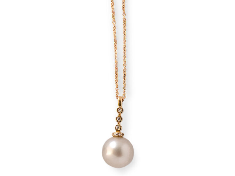 South Sea Cultured Pearl & Diamond Pendant