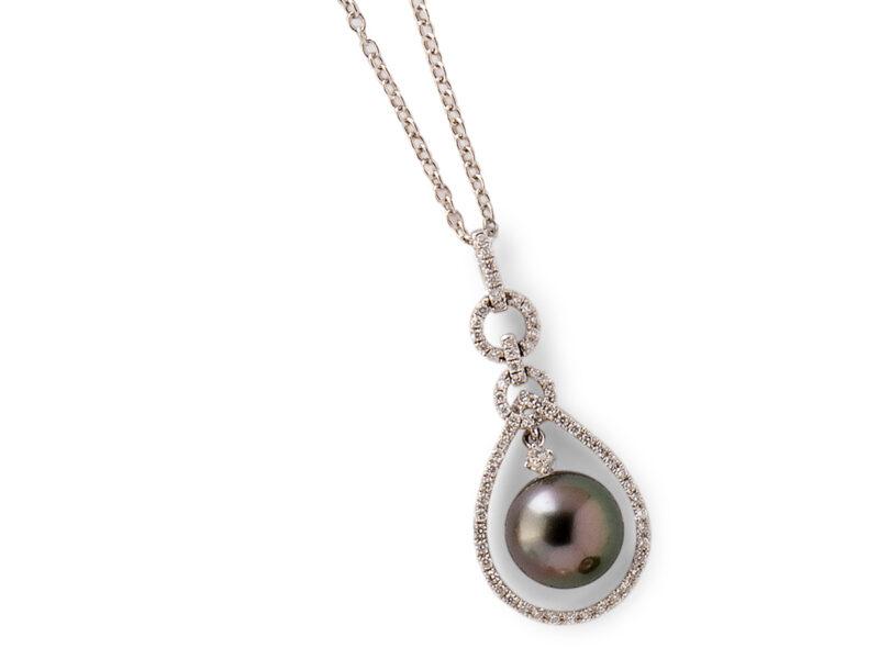 Tahitian Cultured Pearl & Diamond Pendant