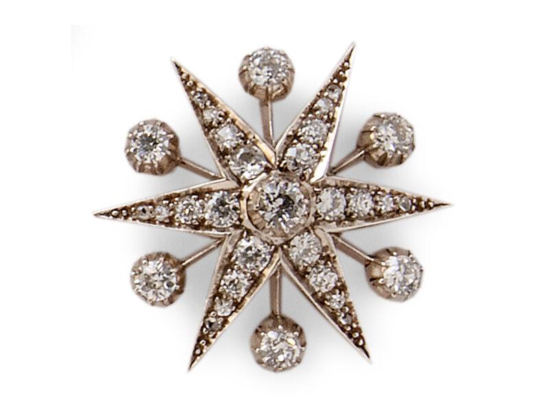 Victorian Diamond Set Star Brooch